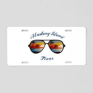 Texas - Mustang Island Aluminum License Plate