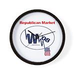 """""""Republican Market"""" Wall Clock"""