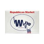 """""""Republican Market"""" Rect Magnet (10)"""