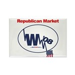 """""""Republican Market"""" Rect Magnet (100)"""