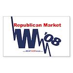 """Republican Market"" Rect Sticker (50)"