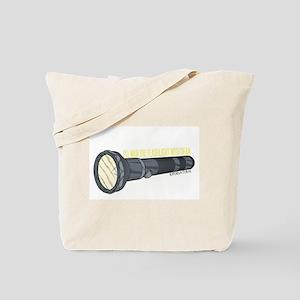 Man'in Dean's Flashlight Tote Bag
