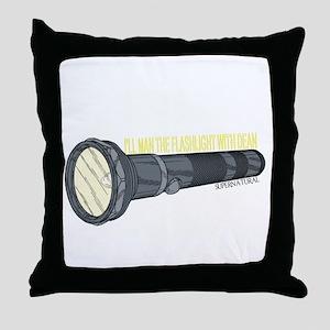 Man'in Dean's Flashlight Throw Pillow