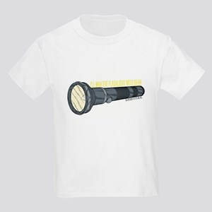 Man'in Dean's Flashlight Kids Light T-Shirt