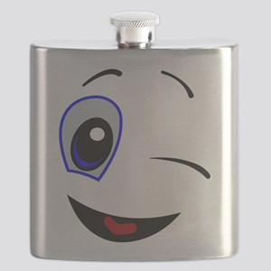 WINKING SMILEY FACE Flask