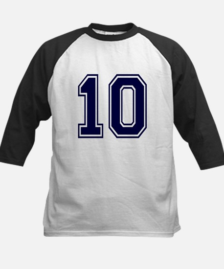 NUMBER 10 FRONT Kids Baseball Jersey