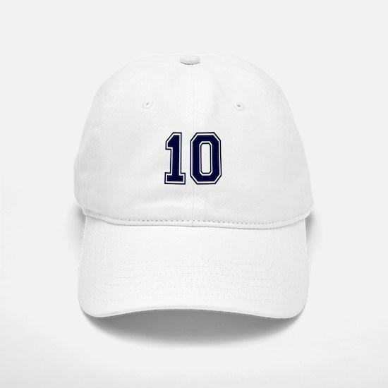 NUMBER 10 FRONT Baseball Baseball Cap