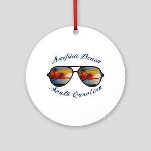 South Carolina - Surfside Beach Round Ornament