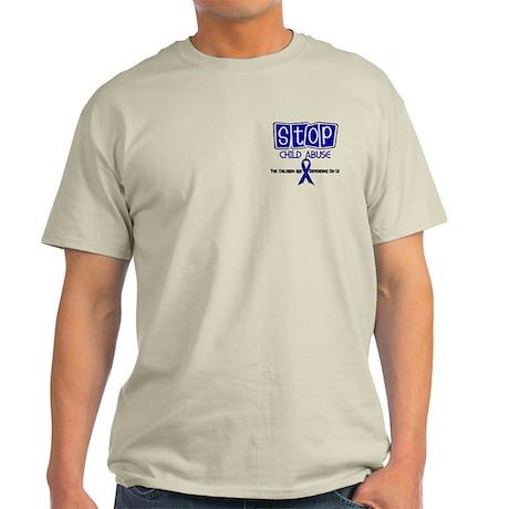 Stop Child Abuse 1 Light T-Shirt