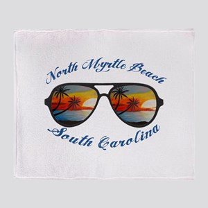 South Carolina - North Myrtle Beach Throw Blanket
