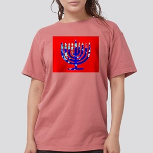 Blue Red Menorah 4Rebecca T-Shirt