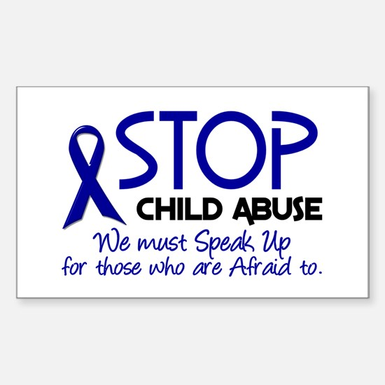 Stop Child Abuse 2 Rectangle Decal