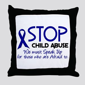 Stop Child Abuse 2 Throw Pillow
