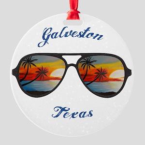 Texas - Galveston Round Ornament