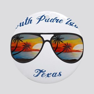 Texas - South Padre Island Round Ornament