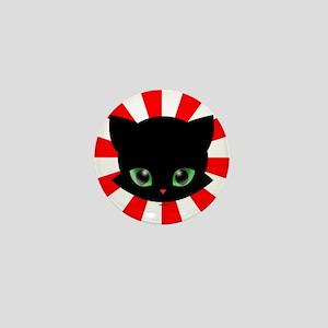 Little Black Cat Mini Button