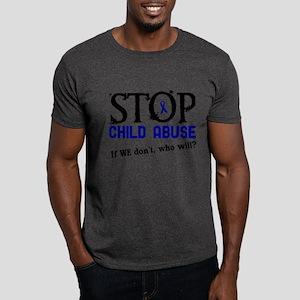 Stop Child Abuse 3 Dark T-Shirt