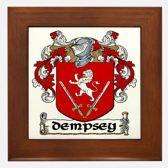 Dempsey Coat of Arms Framed Tile