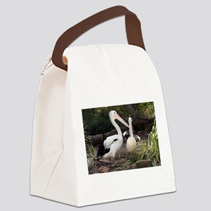 Pelicans at zoo Canvas Lunch Bag