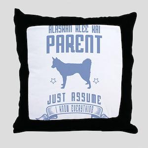 Alaskan Klee Kai Throw Pillow