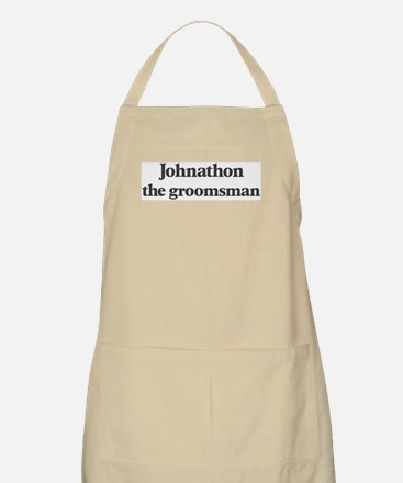 Johnathon the groomsman BBQ Apron