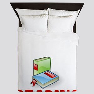 I Was Thinking About Reading Bookworm Queen Duvet