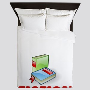 I Was Thinking About Fiction Bookworm Queen Duvet