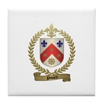 PINARD Family Crest Tile Coaster