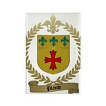 PLANTE Family Crest Rectangle Magnet