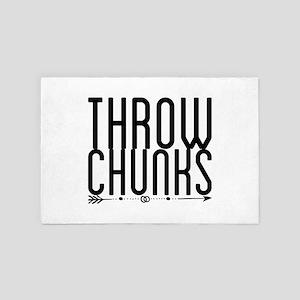 throw chunks 4' x 6' Rug
