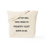 proximity alert pregnancy Tote Bag
