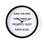 proximity alert pregnancy Wall Clock