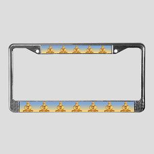 Buddha Graphic License Plate Frame