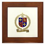 POITRAS Family Crest Framed Tile