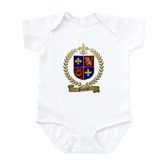 POITRAS Family Crest Infant Creeper