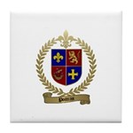POITRAS Family Crest Tile Coaster