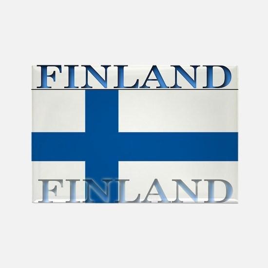 Finland Finish Flag Rectangle Magnet