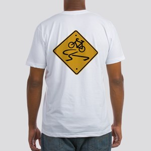 Dangerous riding cycling Fitted T-Shirt