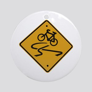 Dangerous riding cycling Ornament (Round)