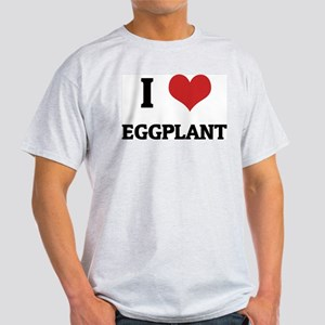 I Love Eggplant Ash Grey T-Shirt