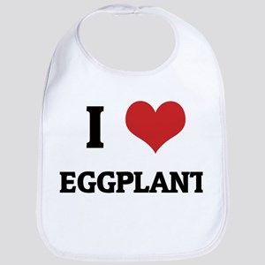 I Love Eggplant Bib