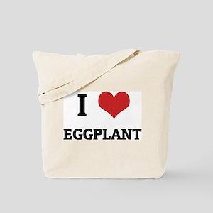 I Love Eggplant Tote Bag