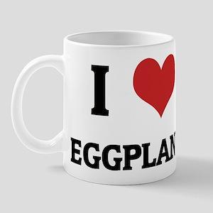 I Love Eggplant Mug