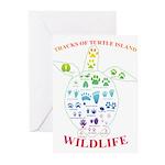 Tracks of Turtle Island Wildlife Greeting Cards