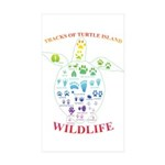 Tracks Of Turtle Island Wildlife Sticker