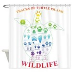 Tracks Of Turtle Island Wildlife Shower Curtain