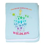 Tracks of Turtle Island Wildlife baby blanket