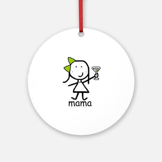 Martini - Mama Ornament (Round)