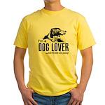 DOG LOVER Yellow T-Shirt