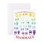 Tracks of North American Mammals Greeting Cards